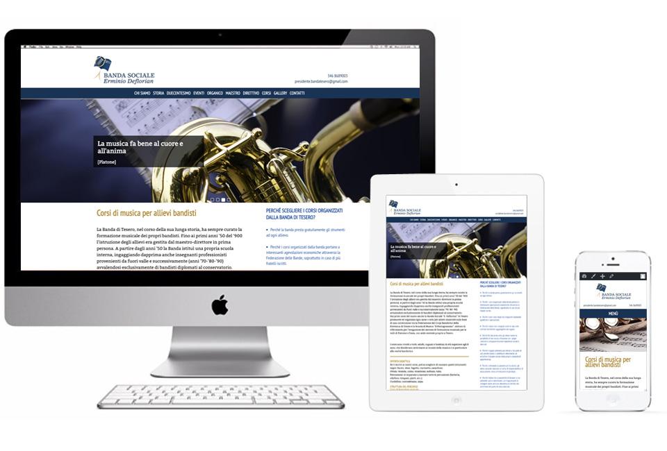 sito web responsive della Banda di Tesero