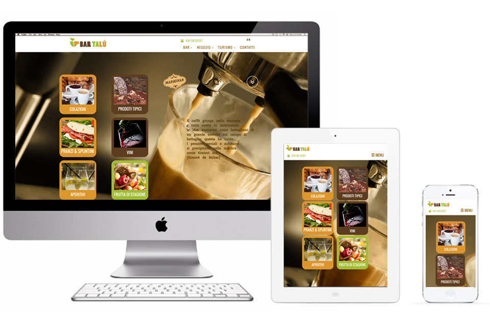 Bar Talu, sito web responsive